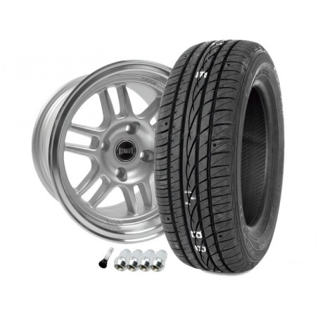 Pack Jante 7x13 - Superlight F1 - Gris-Austin Mini