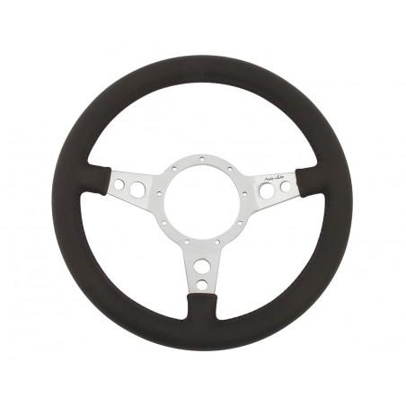 Volant Moto-lita® Cuir 13'' Alu (Moyeu en option)-Austin Mini