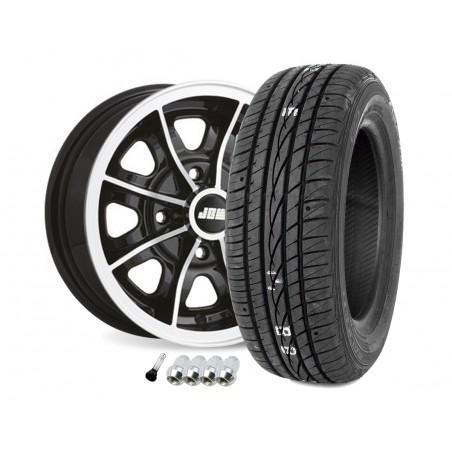 5 x 12 - Pack Jante Dunlop - Noir-Austin Mini