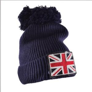 Bonnet Union Jack avec pompom-austin-mini