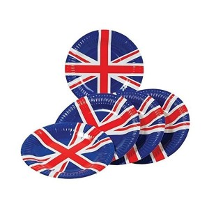 Lot de 8 assiettes en carton Union Jack-austin-mini