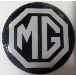 Autocollant MG noir et blanc (27 mm)-Austin Mini