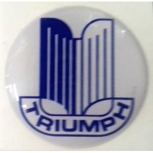 Autocollant Triumph bleu et blanc (27 mm)-austin-mini