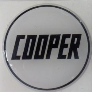 Autocollant rond Cooper noir et blanc (42mm)-austin-mini