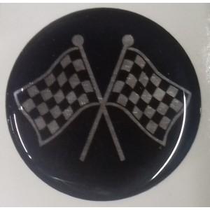 Autocollant Révolite noir gris (42 mm)-austin-mini