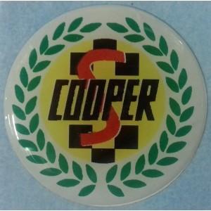Autocollant rond Cooper S (42mm)-austin-mini