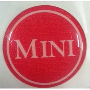 Autocollant Mini blanc et rouge (27 mm)-Austin Mini