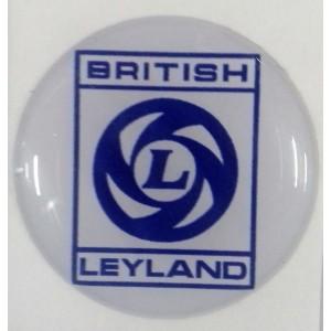 Autocollant British Leyland bleu et blanc (27 mm)-austin-mini