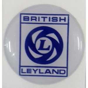 Autocollant British Leyland bleu et blanc (27 mm)-Austin Mini