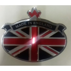 "Badge autocollant Résine Union Jack ""Made in"