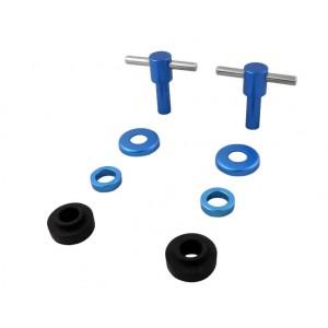 Kit vis T de cache culbuteur anodisées x 2 - Bleu-Austin Mini