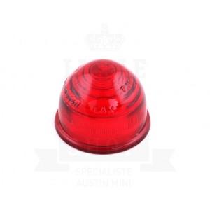 Cabochon de clignotant type lucas en verre - ROUGE-mg-mgb