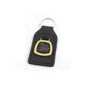 Porte clés cuir avec badge Mini Cooper - Jaune-mg-mgb