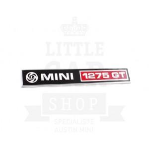 Badge de malle ''Mini 1275 GT''-Austin Mini