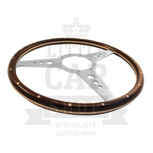 Volant bois British ''Classic'' 15'' (Moyeu en option)-Austin