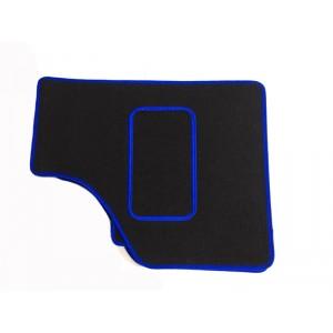 4 tapis de sol (noir) liseré bleu - Austin Mini-Austin Mini