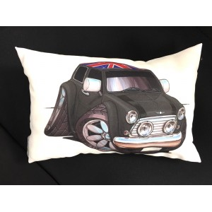 Coussin Mini Cooper Gun Metal Union Jack-mg-mgb