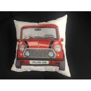 Coussin Italian Job Mini Rouge - Carré-mg-mgb
