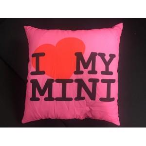 Coussin I love My Mini - Carré-austin-mini