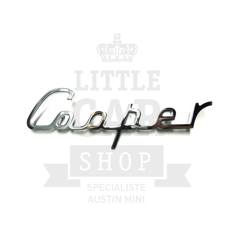Script de malle ''Cooper'' écriture - Austin Mini