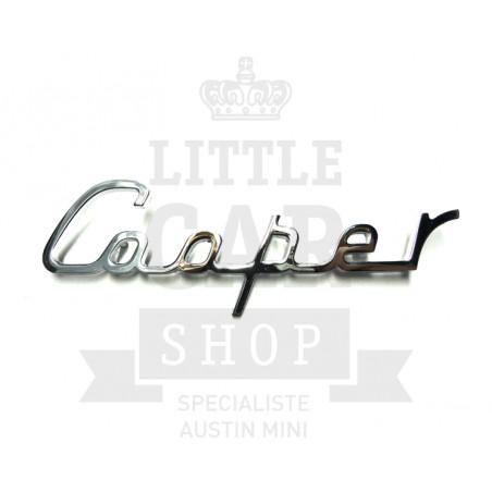 Script de malle ''Cooper'' écriture - Austin Mini-Austin Mini