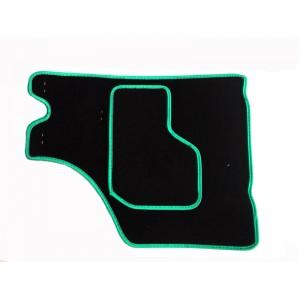 4 tapis de sol (noir) liseré vert - Austin Mini-austin-mini