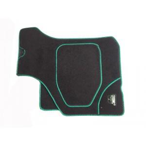 4 tapis de sol (noir) liseré vert/noir-austin-mini