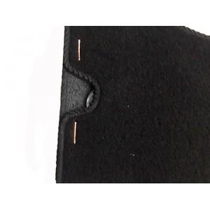 4 tapis de sol (noir) Union Jack liseré noir - Austin