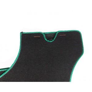 4 tapis de sol (noir) liseré vert et noir-Austin Mini