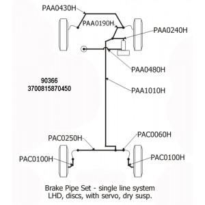 1 x Kit de tuyaux de frein simple circuit avec Master Vac type Cooper S