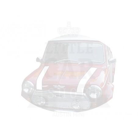 Bande de capot avant (la paire) : blanc - Austin Mini