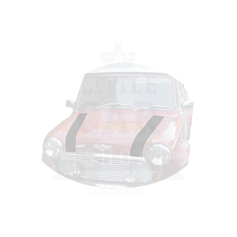 Bande de capot avant (la paire) : gris - Austin Mini