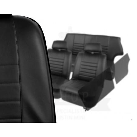 KHS-B2 - Kit Intérieur Complet 2 Sièges Banquette Joues et Panneaux - Noir Liseré Noir