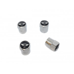 "Jeu de 4 bouchons de valve Chrome ""Logo Mini Cooper""-austin-mini"