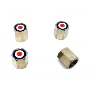 """4 bouchons de valve Chrome """"Cible""""-austin-mini"""