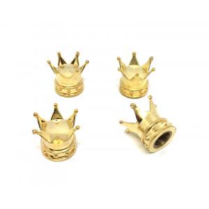 """4 bouchons de valve Gold """"Couronne King""""-austin-mini"""