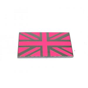 Badge union jack rose et chrome MINI / emaillé /
