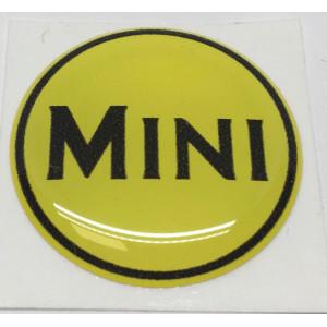 Autocollant MINI jaune et noir (27mm)-mg-mgb