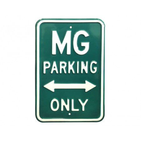 Plaque murale MG Parking Only Vert
