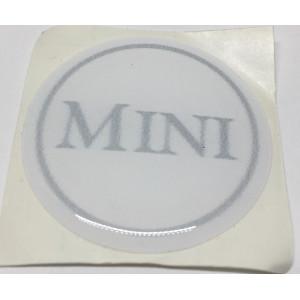 Autocollant rond mini gris (42mm)-austin-mini