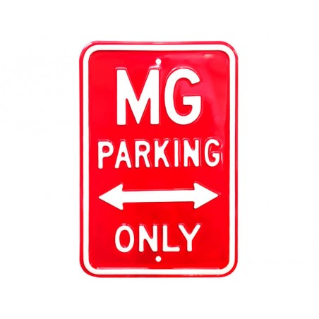 Plaque murale MG Parking Only Rouge