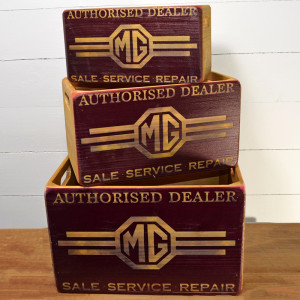 Caisses en Bois (set de 3) MG Authorised Dealer-austin-mini