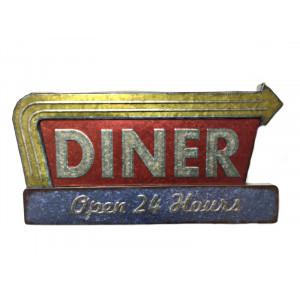 Panneau publicitaire métal DINER-mg-mgb