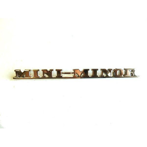 Badge de malle arrière - MINI - ''MINI MINOR''-Austin Mini