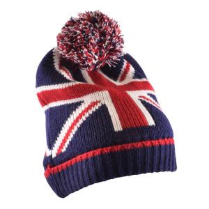 Bonnet Union Jack avec pompom-mg-mgb