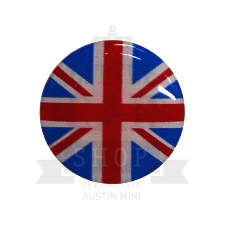 Autocolant rond Union Jack (42mm) - Austin Mini