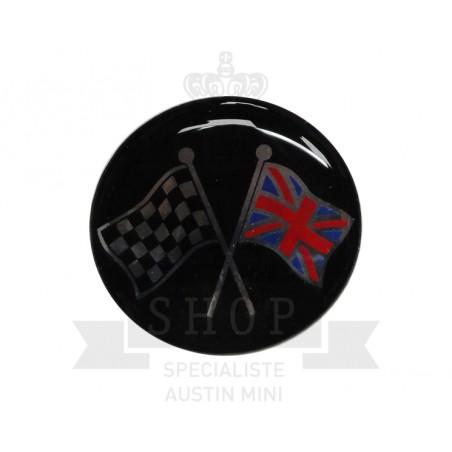 Autocolant rond Révolite (42mm) - Austin Mini