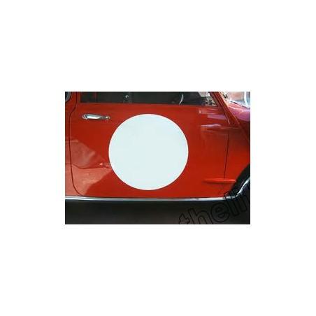 Rond de porte blanc (la paire) - Austin Mini
