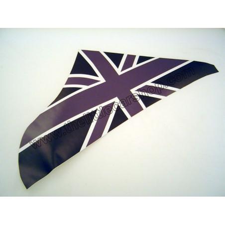 Drapeau anglais de triangle gris noir - Austin Mini