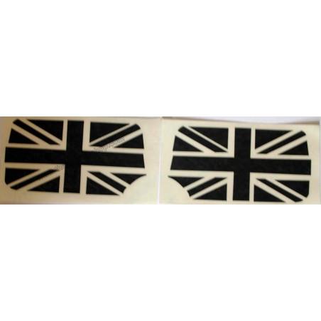 Drapeau anglais de rétro noir (la paire) - Austin Mini